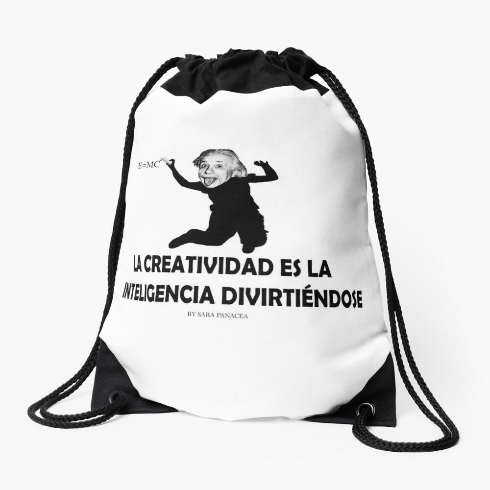 EINSTEIN: LA CREATIVIDAD ES LA INTELIGENCIA DIVIRTIENDOSE Mochila saco