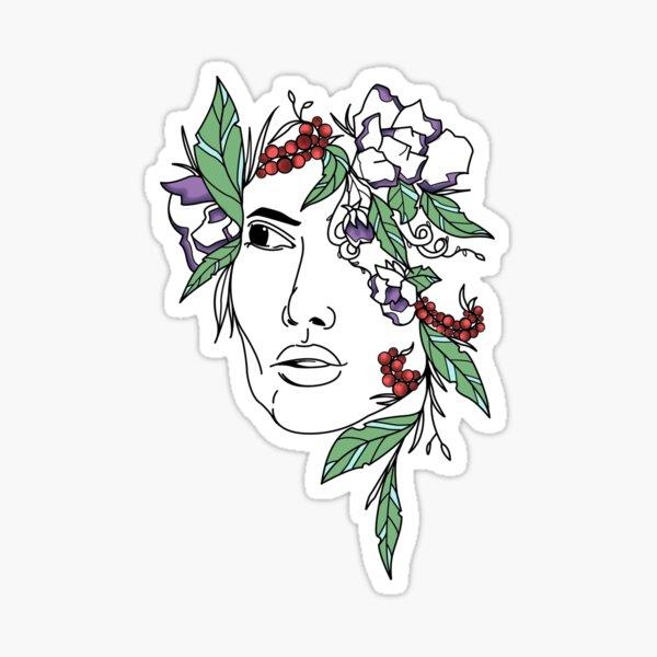 Flower me (in colour) Sticker