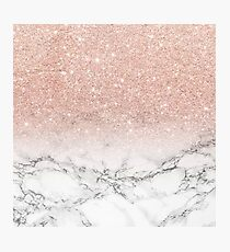 pink marble Photographic Print