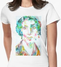 VIRGINIA WOOLF - watercolor portrait Women's Fitted T-Shirt