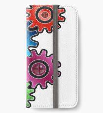 Zahnrad iPhone Flip-Case/Hülle/Skin