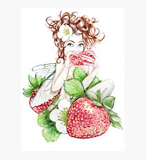 Strawberry Fairy  Photographic Print
