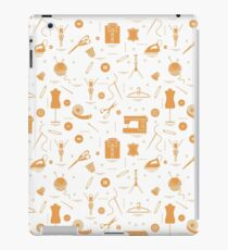 Pattern with tools and accessories for sewing. iPad Case/Skin