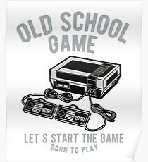 Vintage Video Game Console Poster