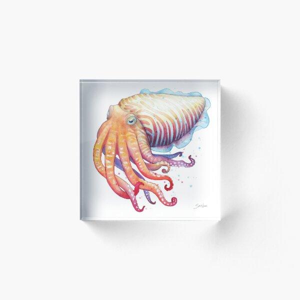 Cuttlefish Acrylic Block
