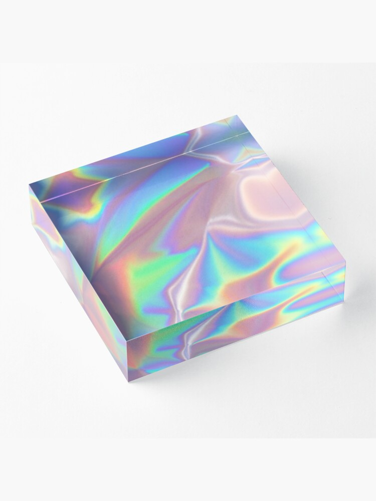 Alternate view of Holographic Pattern Acrylic Block