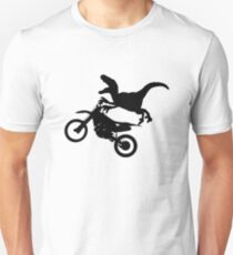Dinosaur Raptor Riding Motor Bike Unisex T-Shirt