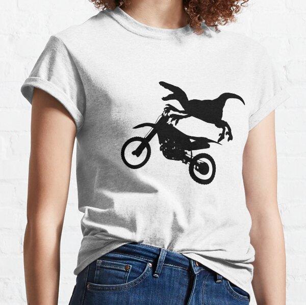 Dinosaur Raptor Riding Motor Bike Classic T-Shirt