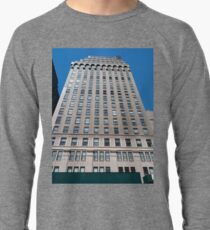 Building, Skyscraper, New York, Manhattan, Street, Pedestrians, Cars, Towers Lightweight Sweatshirt