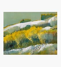 First Snow Landscape Painting / Dennis Weber of ShreddyStudio Photographic Print
