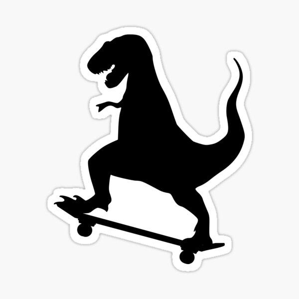 Dinosaur Skateboarding Sticker