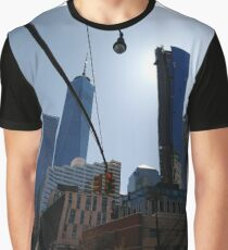 #Building, #Skyscraper, #New #York, #Manhattan, #Street, #Pedestrians, #Cars, #Towers, #NewYork, #NewYorkCity Graphic T-Shirt