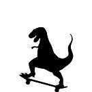 Dinosaur Skateboarding by Bookinspired