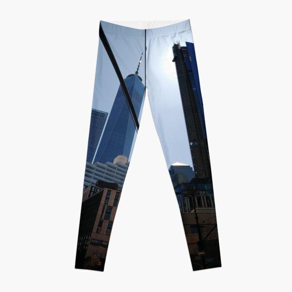 #Building, #Skyscraper, #New #York, #Manhattan, #Street, #Pedestrians, #Cars, #Towers, #NewYork, #NewYorkCity Leggings