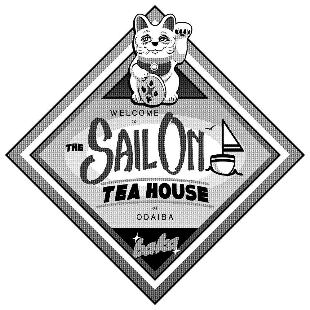1Color Sail On TeaHouse Logo by BAKAbrand