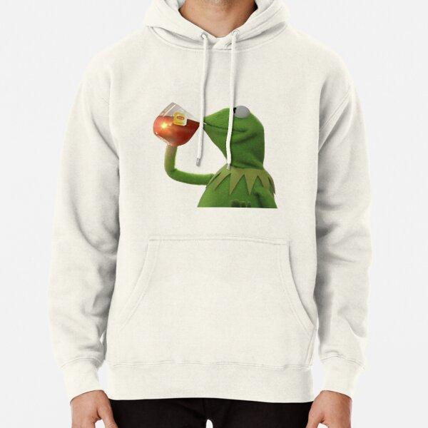 Tea Kermit Meme Pullover Hoodie