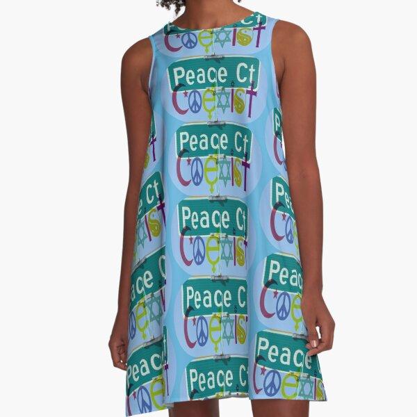 Peace Court / Coexist A-Line Dress