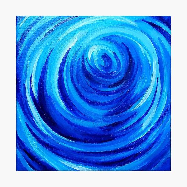 Deep Blue Swirl Photographic Print