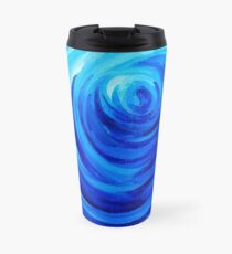 Deep Blue Swirl Travel Mug