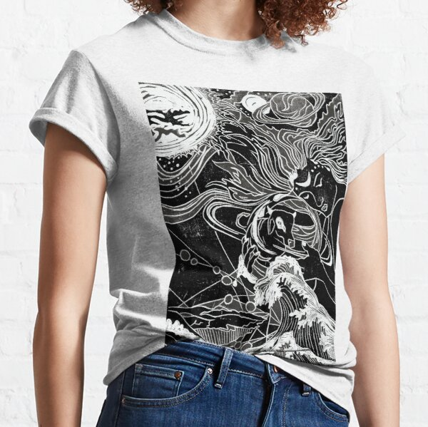 Ymir the creation giant with Audhumbla the cow Classic T-Shirt