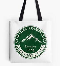 Cortina d'Ampezzo Skiing Italy Dolomite Mountains Dolomiti Belluno 3 Tote Bag