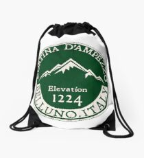 Cortina d'Ampezzo Skiing Italy Dolomite Mountains Dolomiti Belluno 3 Drawstring Bag