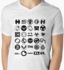 Kenne dein Label T-Shirt mit V-Ausschnitt