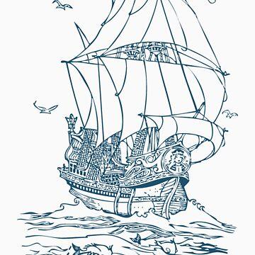 Pirate Ship by jimmyraynes