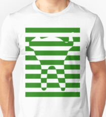Green striped cat Unisex T-Shirt