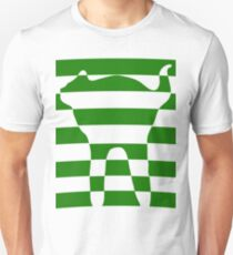 Green striped cat 2 Unisex T-Shirt