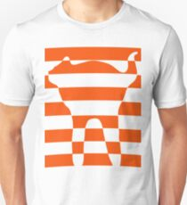 Orange striped cat 2 Unisex T-Shirt