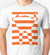 Orange striped cat 3 Unisex T-Shirt