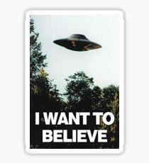 """X-Files """"I Want To Believe"""" Sticker Sticker"""