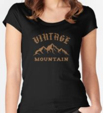 Vintage mountain Women's Fitted Scoop T-Shirt