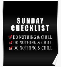Sunday Checklist Poster