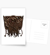 Airship Pirate Badge in Copper Postcards