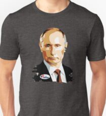 I Voted Vladimir Putin with Sticker Graphic Unisex T-Shirt