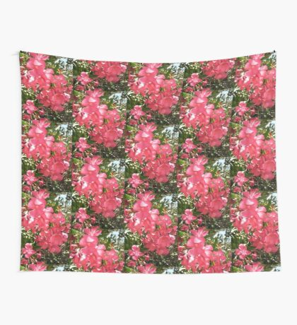Pink Oleanders Wall Tapestry