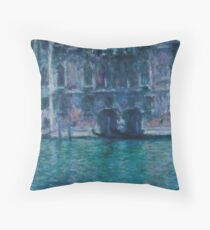 "Claude Monet ""Palazzo da Mula at Venice"" Throw Pillow"