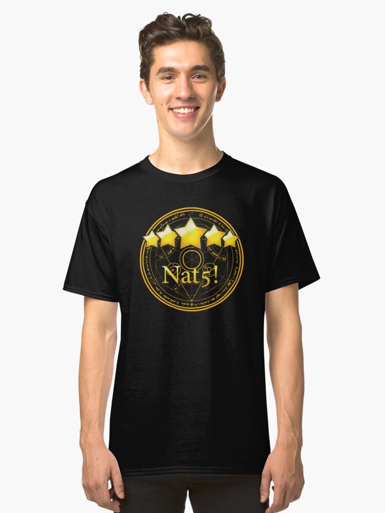 Summon Nat5-WhiteonBlack Classic T-Shirt Front