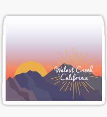 Walnut Creek California Sticker