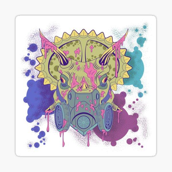Tricera-paint Sticker