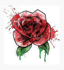 Watercolor Rose 2  Photographic Print
