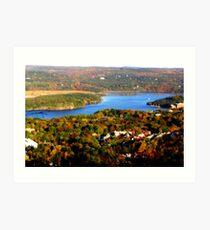 Hudson river valley at fall Art Print
