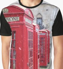 Red Telephone Boxes, London Graphic T-Shirt