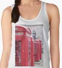 Red Telephone Boxes, London Women's Tank Top