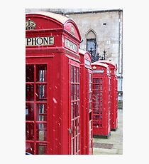 Red Telephone Boxes, London Photographic Print