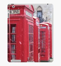 Red Telephone Boxes, London iPad Case/Skin