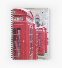 Red Telephone Boxes, London Spiral Notebook