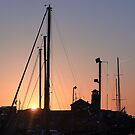 Harbour sunset by neon-gobi